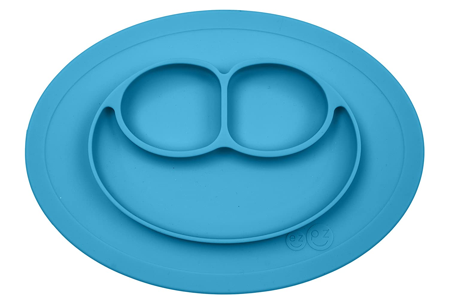 Amazon.com : ezpz Mini Mat - One-piece silicone placemat + plate ...