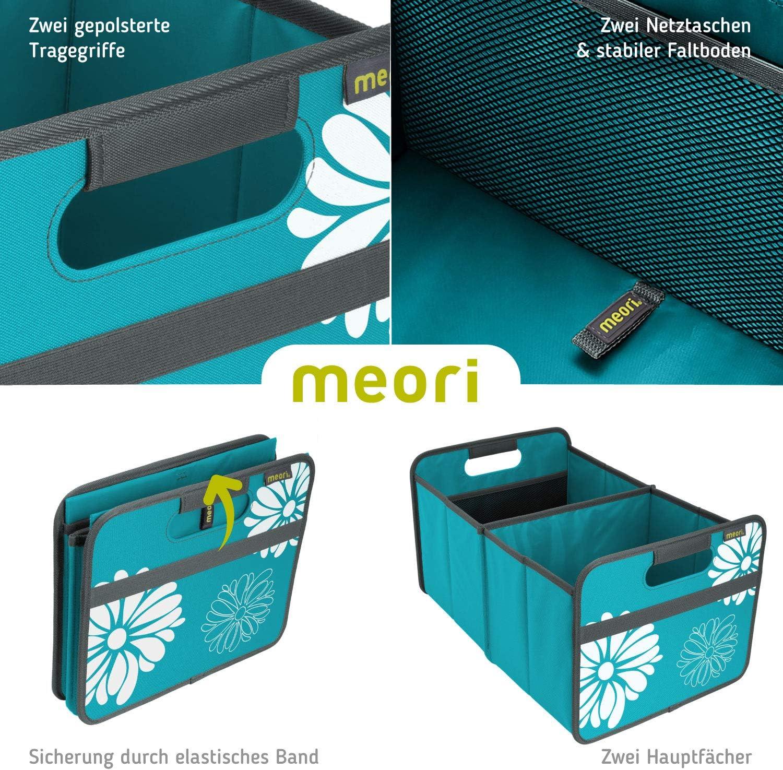 Meori Bo/îte Pliante Polyester Azur Bleu//Fleur Large