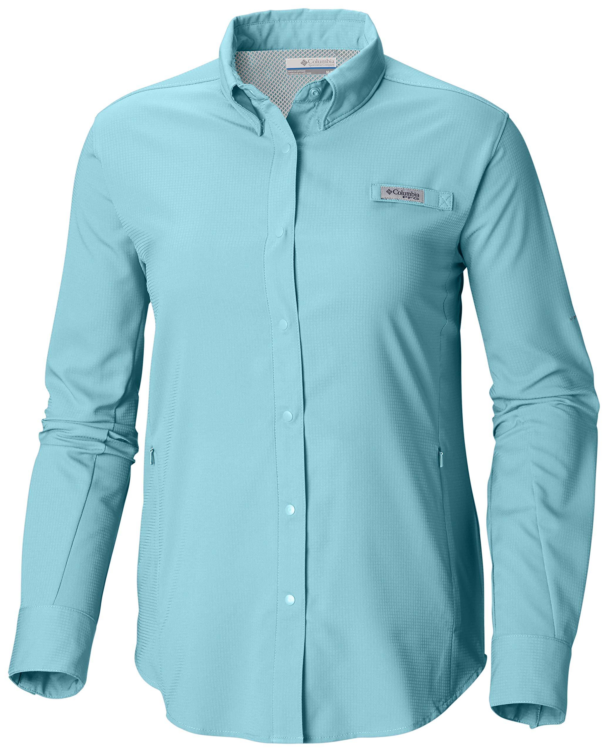 Columbia Women's PFG Tamiami II Long Sleeve Shirt , Coastal Blue, Large