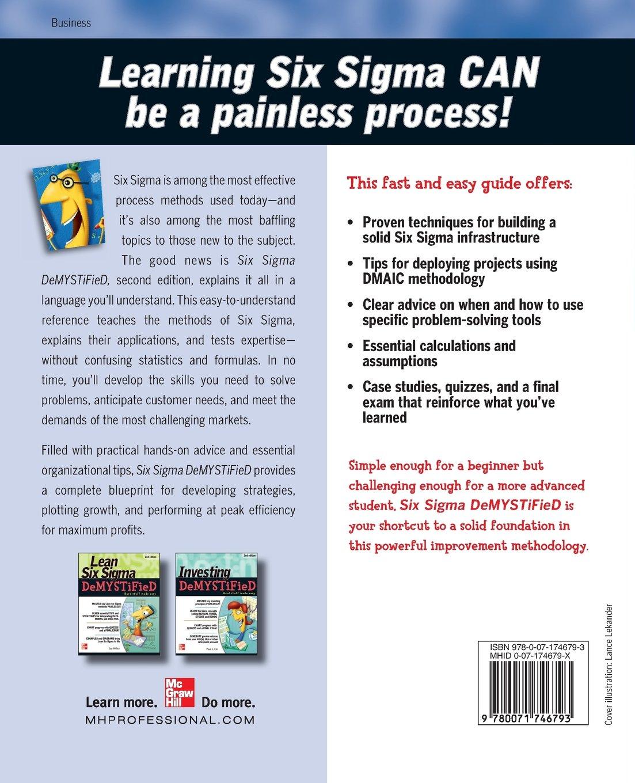 Amazon Six Sigma Demystified 2nd Edition 9780071746793 Paul
