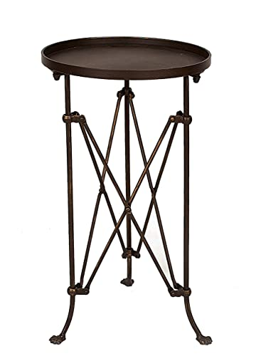 Creative Co-op Round Metal Accent Table, 25 , Bronze