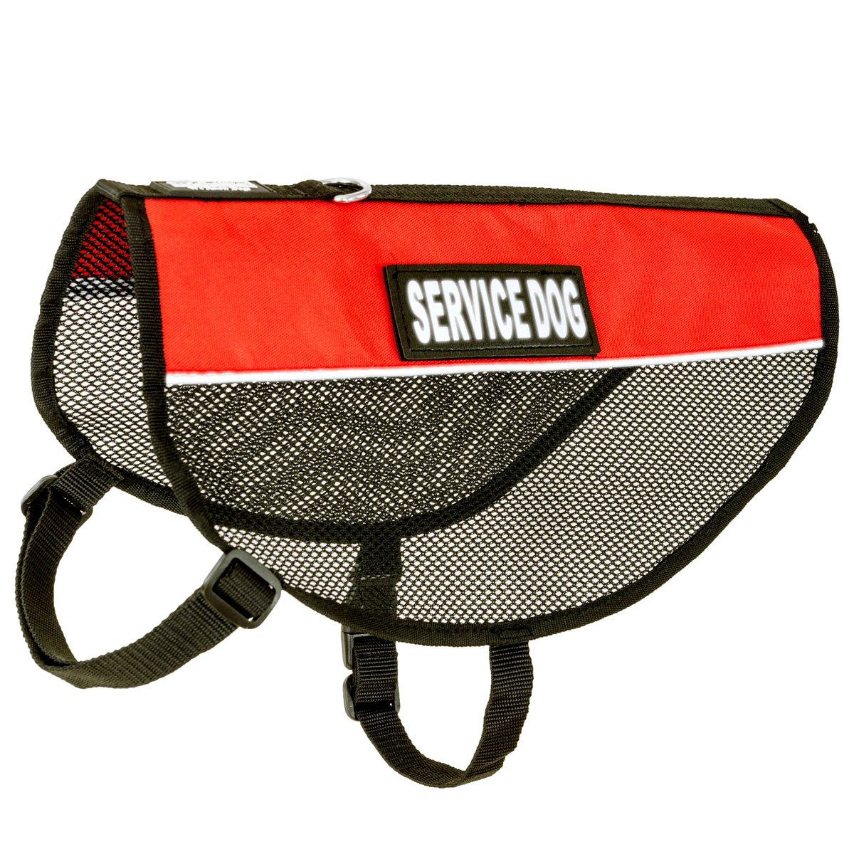 BarkOutfitters Service Dog Vest Cool Red Mesh Harness L (17.5-21  Girth)