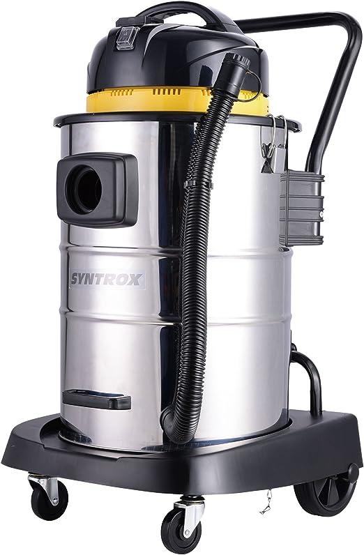 Syntrox Germany - Aspiradora industrial de acero inoxidable, 50 ...