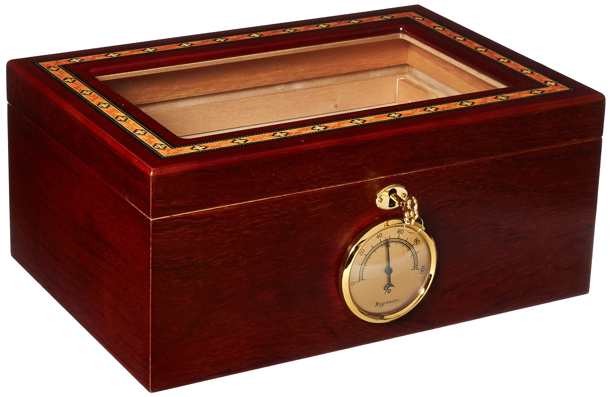 Orleans Group Bally IV Humidor Spanish Cedar Finish with Front Key Lock