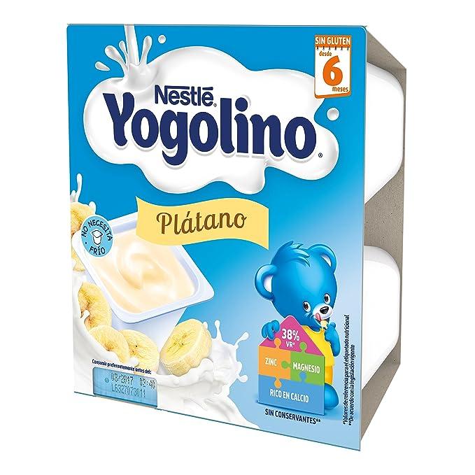 Iogolino - Plátano A Partir De 6 Meses 4 x 100 g: Amazon.es: Alimentación y bebidas