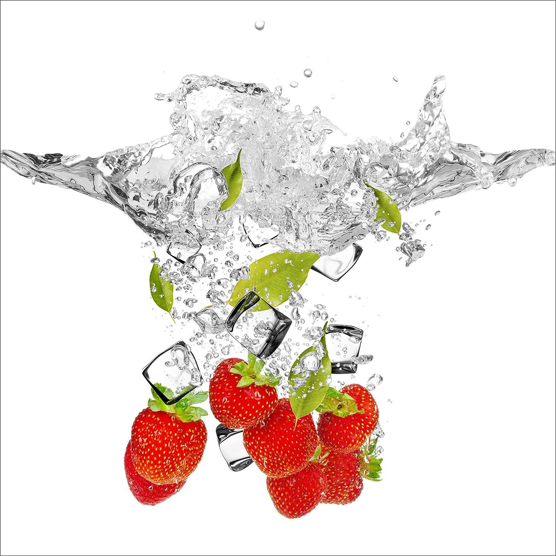 Pro-Art-Bilderpalette gla1422d Fresh Strawberries Glas-Art, bunt, 20 x 20 x 1,3 cm Pro-Art-Bilderpalette (PRPQU)