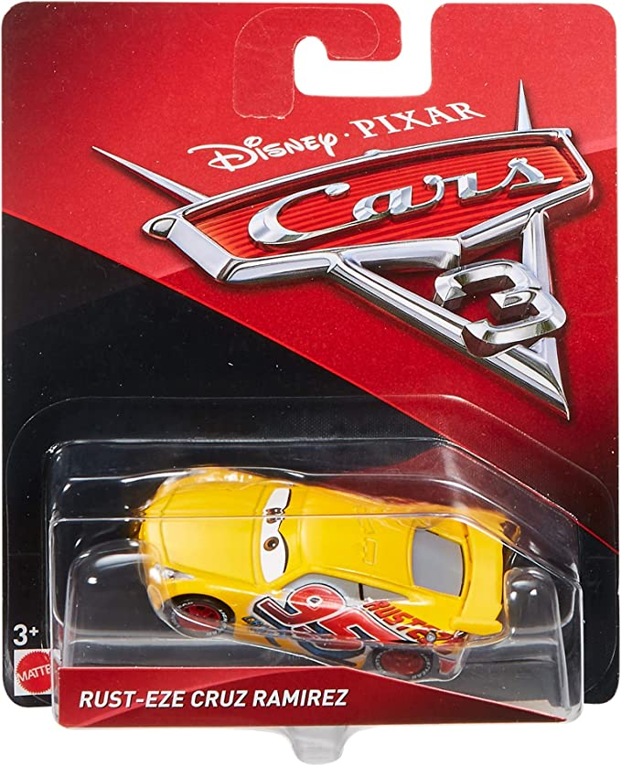 Genuine Mattel Disney Pixar Cars 3 Cruz Ramirez Diecast metal coche 1:55 Amarillo