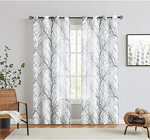 Fmfunctex Blue White Curtain