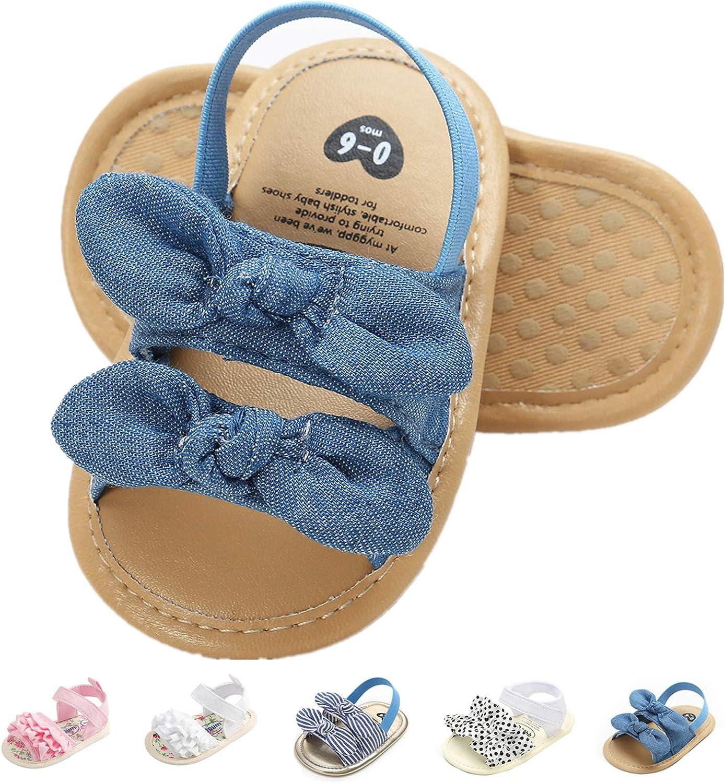 Baby Girls Sandals Rubber Sole Outdoor First Walker Toddler Girls Boys Summer Shoes