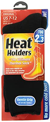 Heat Holders Men's Original 2.3 tog winter Thermal Socks 7-12 US