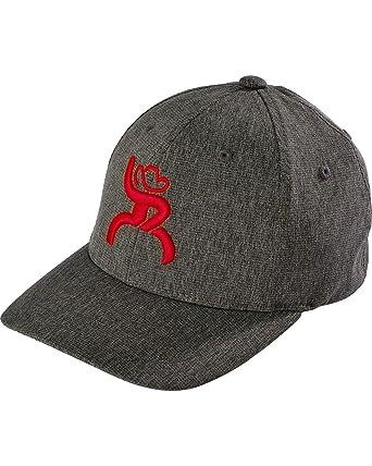 Hooey Boy s Hooey Roughy Flex Fit Logo Cap Grey One Size  Amazon.in ... 892ccfe6a32