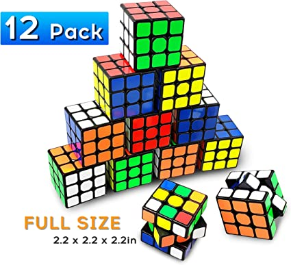 Full Size Magic Speed Cube 3x3 Easy Turning and Smooth Play Durable Puzzle Cube 56mm INTEGEAR