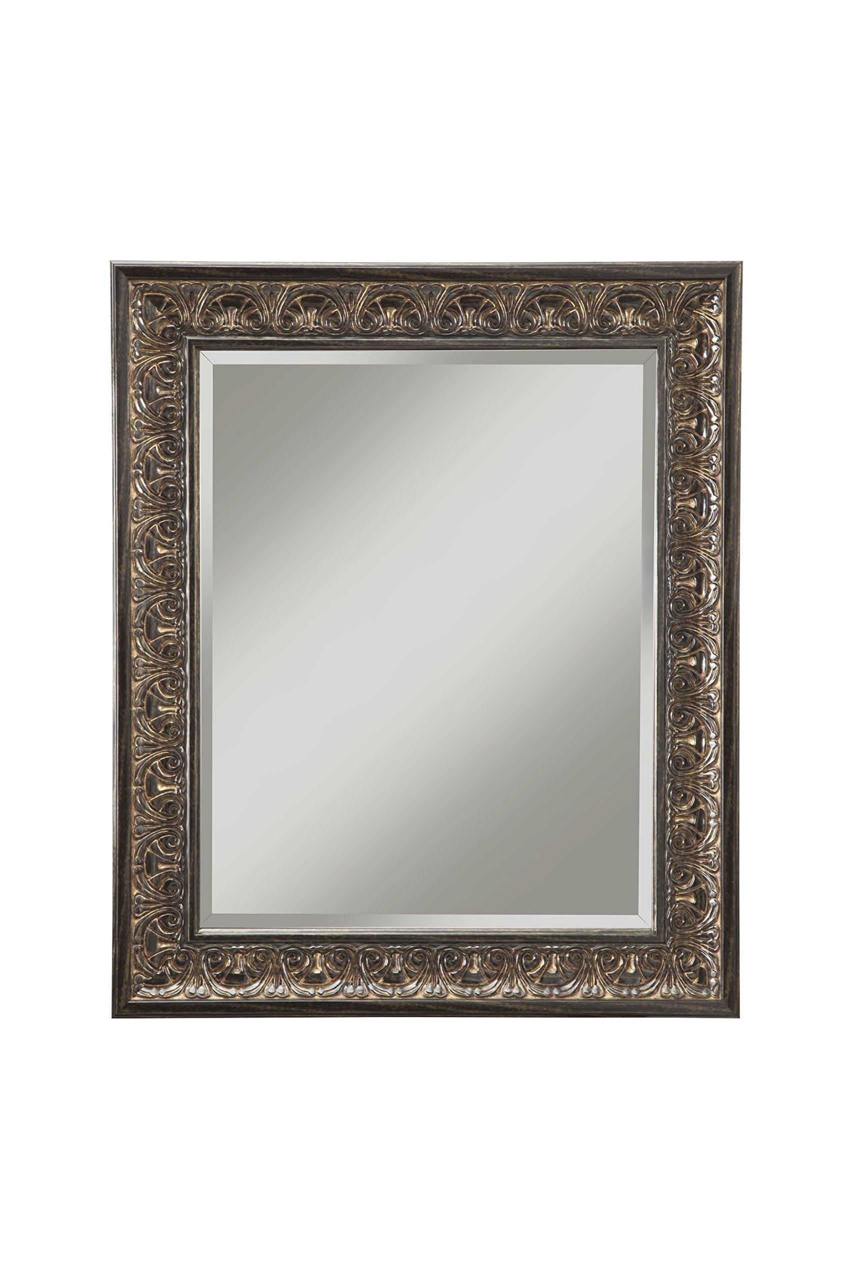 Sandberg Furniture 35517 Andorra Wall Mirror, 36'' x 30'' Wall Mirror, Cognac Ash