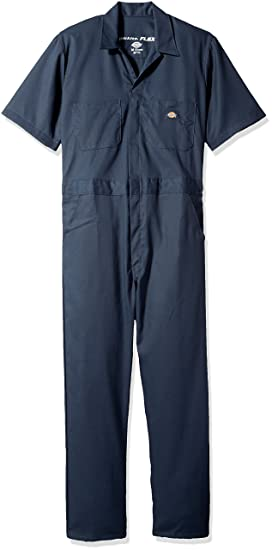 3bdbe6a32c7cd8 Dickies Men s Short Sleeve Flex Coverall at Amazon Men s Clothing store