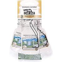 Yankee Candle 1114305E Car Freshener, Car Jar Bonus 3 Pack, Clean Cotton
