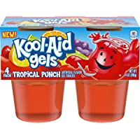 Jell-O Kool-Aid Gels Tropical Punch Ready-to-Eat Gelatin Snacks (4 Cups)