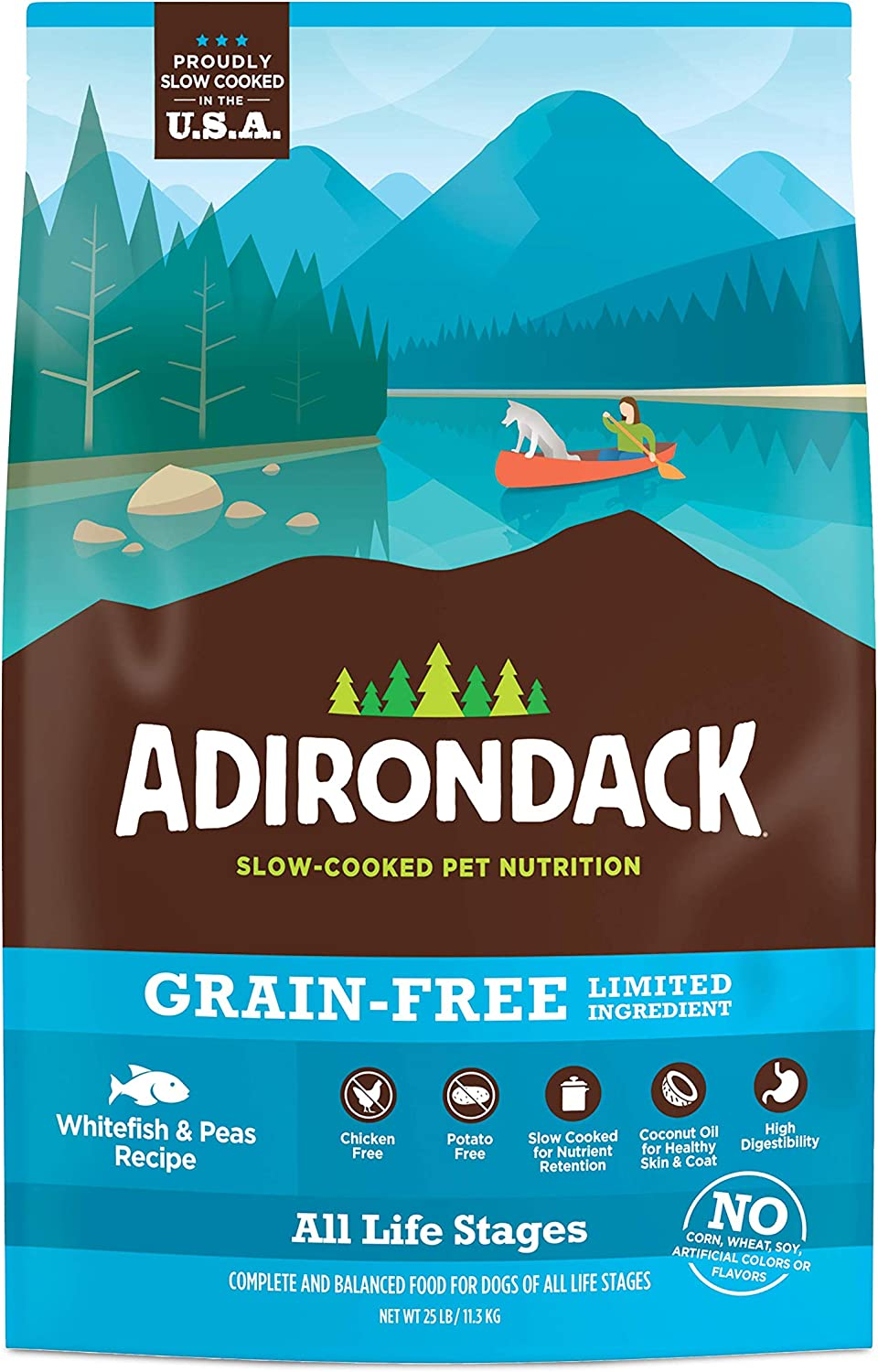 Adirondack Dog Food Made in USA [Limited Ingredient Grain Free Dog Food For All Life Stages], Turkey, Whitefish, Small Breed, and Weight Management Recipes