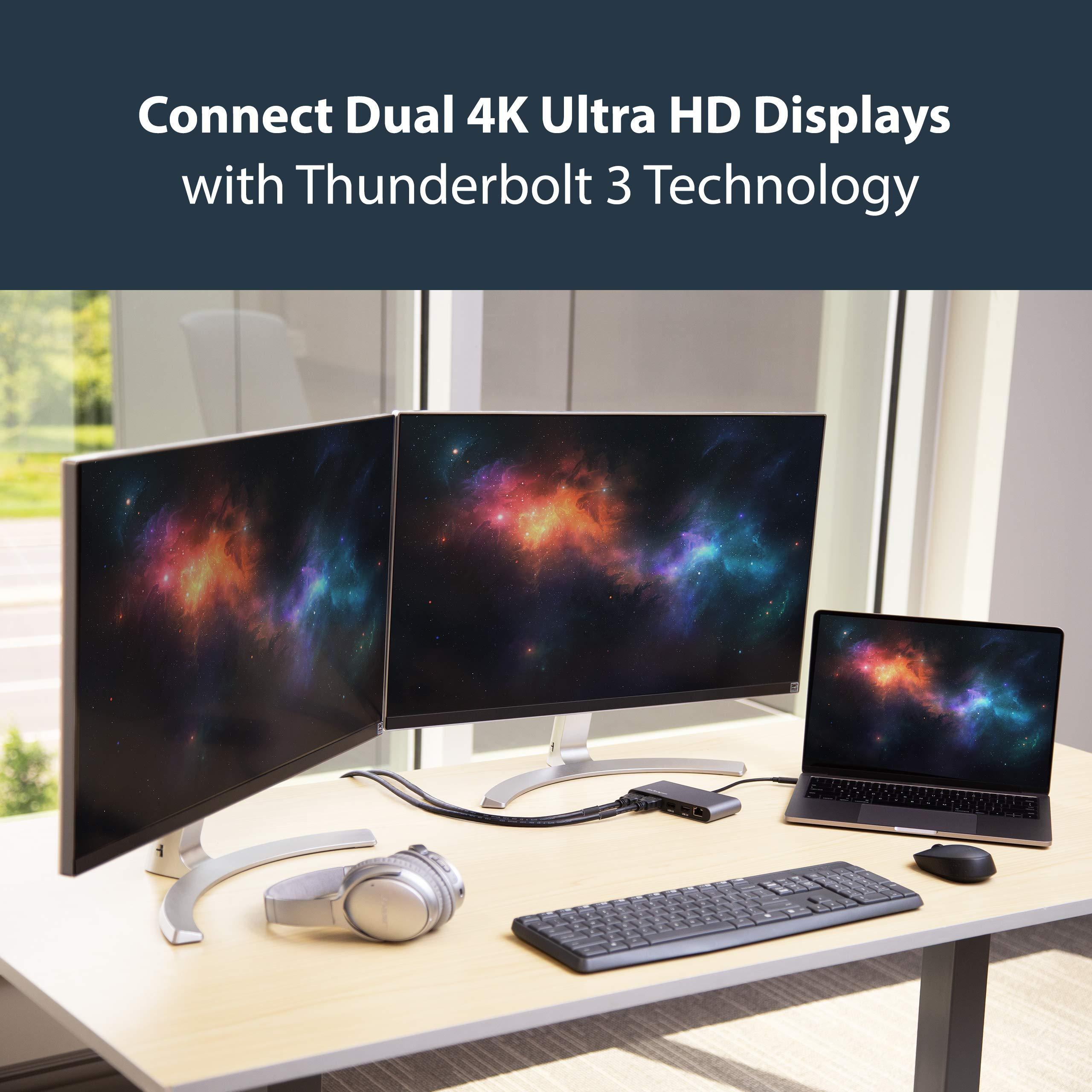 StarTech.com Mini Dual 4K Monitor Thunderbolt 3 Dock with HDMI - Mac & Windows (TB3DKM2HD) by StarTech (Image #4)
