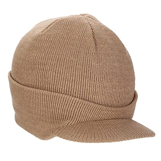 8c59fb44b1c87 Image Unavailable. Image not available for. Color  Eric Carl 2019 Autumn  Winter Army Beanie Hat Wool Knitted Peaked Cap Warm Wooly Cap Women
