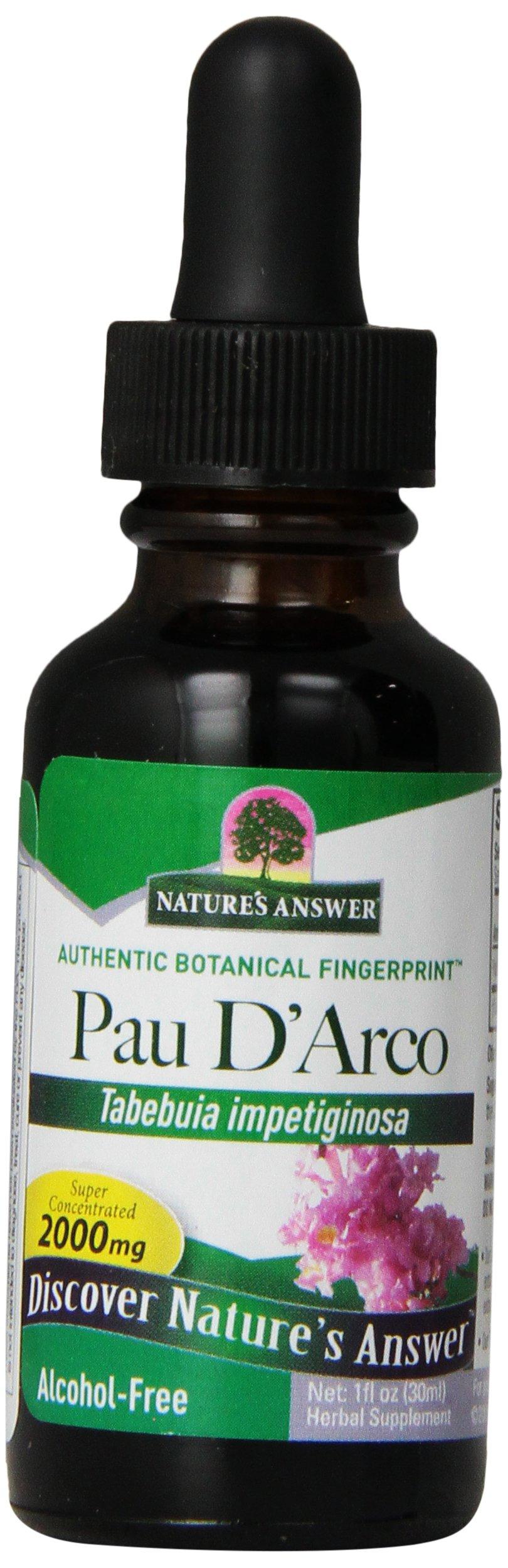 Nature's Answer Alcohol-Free Pau D'Arco Inner Bark, 1-Fluid Ounce