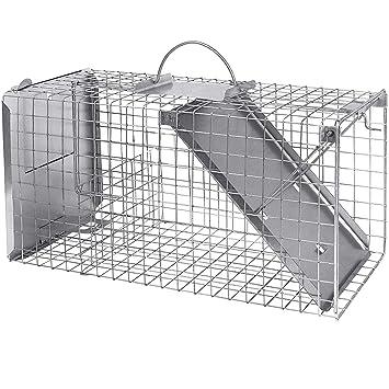 Grandes Gato Trampa con Lock Medio 80 cm I rápida, fácil, fiable I Impermeables y Robusta ...