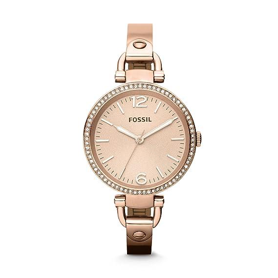Fossil Reloj Mujer de Analogico con Correa en Acero Inoxidable ES3268: Amazon.es: Relojes