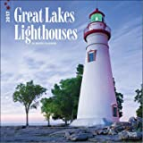 Lighthouses of the Great Lakes 2017 Wall Calendar (12x12) Deluxe