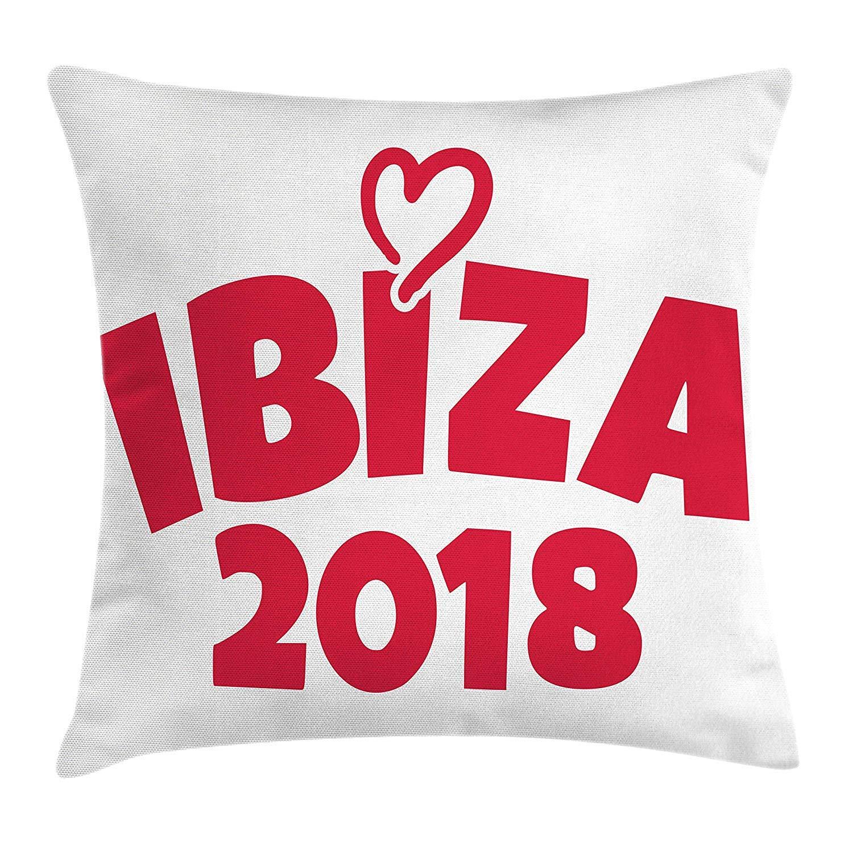 VVIANS Ibiza Throw Pillow Cushion Cover, Heart Motif with ...