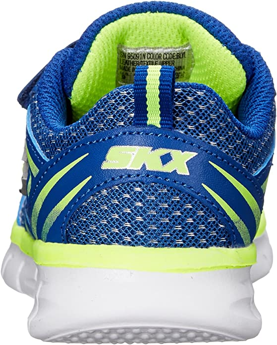 Toddler Skechers Synergy Mini Sprint 95091N Blue Yellow 100/% Authentic Brand New