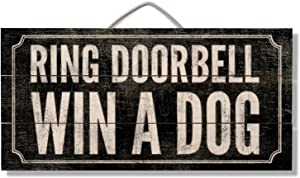 Highland Home Ring Doorbell Win A Dog Slatted Pallet Wood Sign Made in The USA