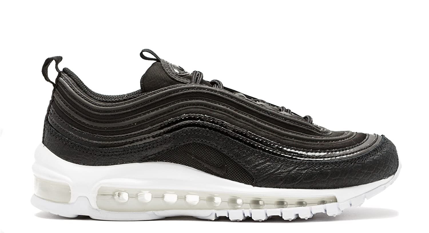 Amazon.com | Nike Air Max 97 Premium Women (9.5) Black White | Track ...