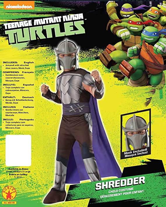 Teenage Mutant Ninja Turtles Shredder Costume, Large