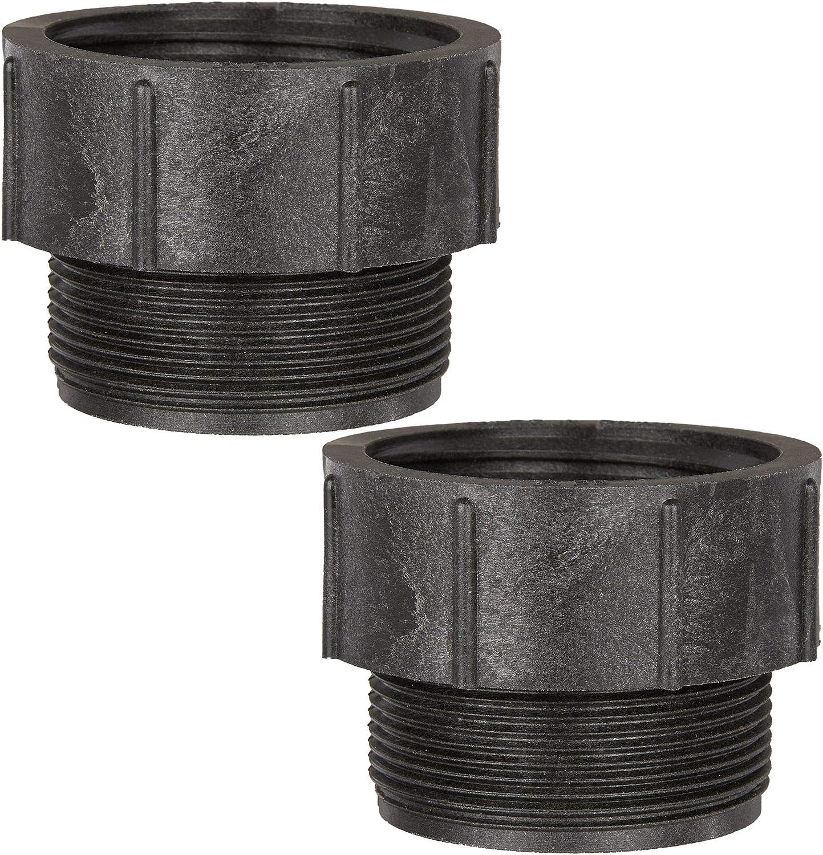Maslin 275-330 Gallon IBC Tote Tank Drain Adapter Coarse Thread 2 to 3//4 Garden Hose R02