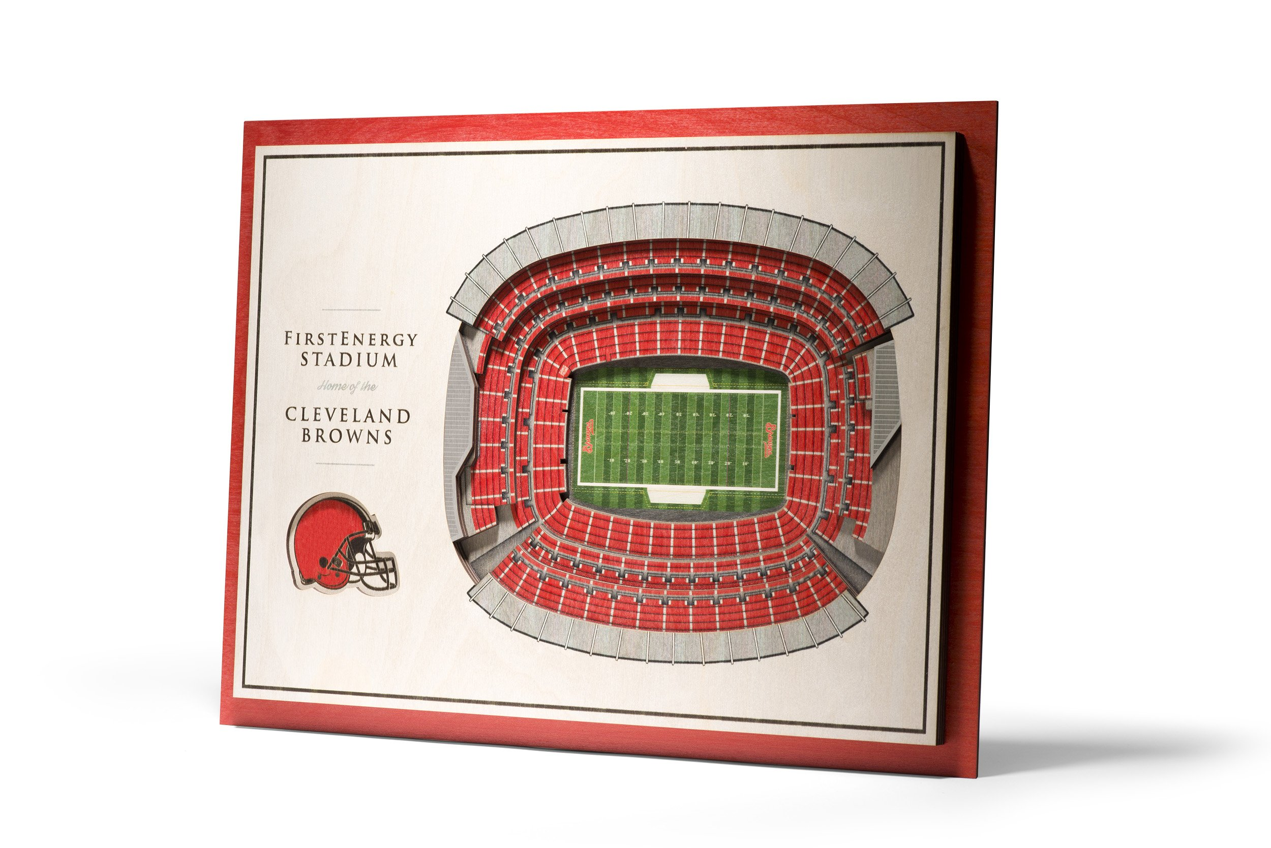 NFL Cleveland Browns 5-Layer Stadiumviews 3D Wall Art by YouTheFan