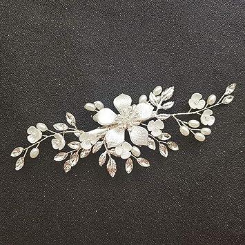 Handmade Crystal Pearl Hair Comb Flower Hairclip Hairband Bridal Wedding Jewelry