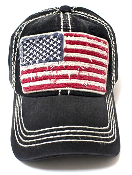 CAPS  N VINTAGE Vintage Black Oversized American Flag Patch Embroidery  Baseball Cap at Amazon Women s Clothing store  1ed3ce3ca17