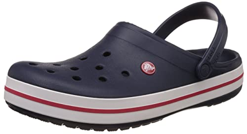 3a4aa52720795f crocs Unisex Crocband Navy Croslite Clogs and Mules - M12  Buy Online at  Low Prices in India - Amazon.in