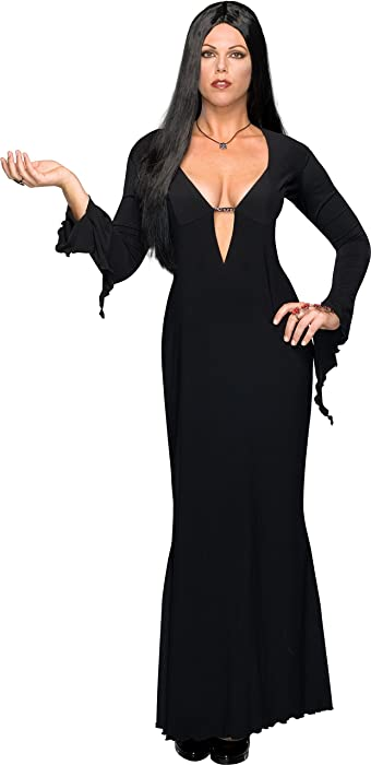 8c8dca6079 Amazon.com  Morticia Addams Family Women s Plus Size Black Costume Dress   Clothing