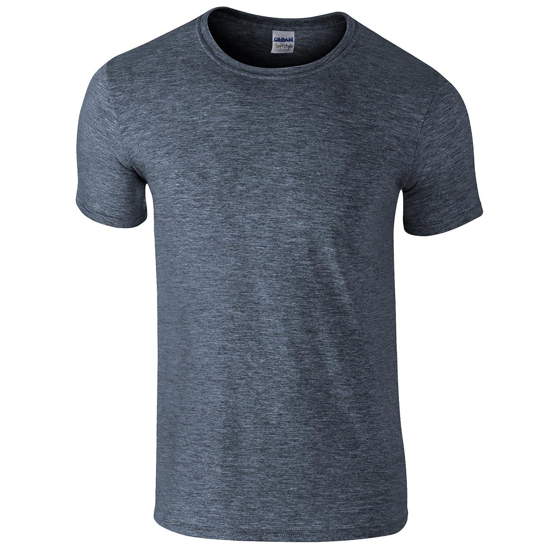 (ギルダン) Gildan メンズ ソフトスタイル 半袖Tシャツ トップス カットソー 男性用 B07349SH4C XX-Large|ヘザーインディゴ ヘザーインディゴ XX-Large