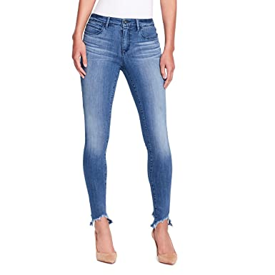 9ab3dbb6898 Skinnygirl Women's The Skinny Jean in Injeanious Stretch Denim,  bleaker/Sharkbite Hem, ...