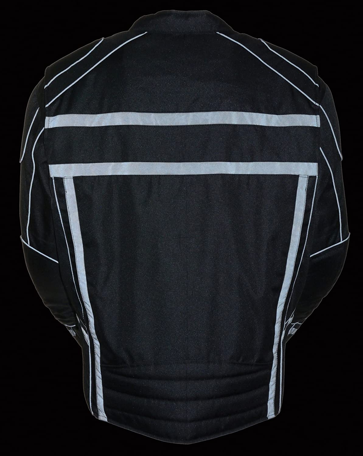 Milwaukee Performance Mens Vented Textile Jacket with High Visibility Reflective Black, Large 1 Pack