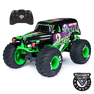Monster Jam , Official Grave Digger Remote Control Monster Truck, 1: 10 Scale, with Lights & Sounds, For Ages 4 & Up, Multicolor: Toys & Games