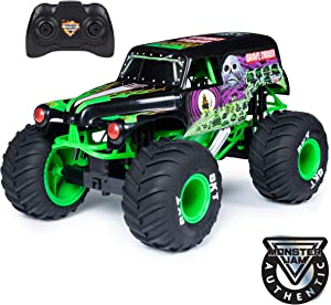 Monster Jam , Official Grave Digger Remote Control Monster Truck, 1: 10 Scale, with Lights & Sounds, For Ages 4 & Up, Multicolor