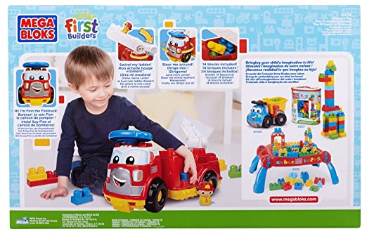 Amazon.com: Mega Bloks First Builders Firetruck Finn: Toys & Games