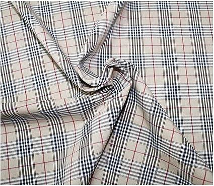 Russo Tessuti - Camisa Escocesa de Tela de algodón, Color ...