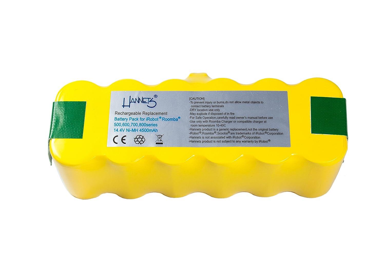 Batterie pour iRobot Roomba série 500 4500 mAh Hannets® iRobot Roomba 500er Akku 4500