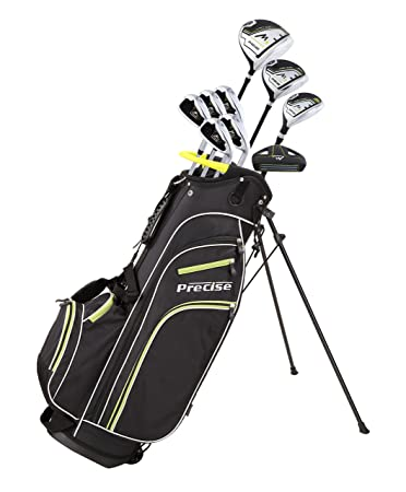 Precise M3 Men s Complete Golf Clubs Package Set Includes Driver, Fairway, Hybrid, 6-PW, Putter, Stand Bag, 3 H C s – Right Handed – Regular or Tall Size