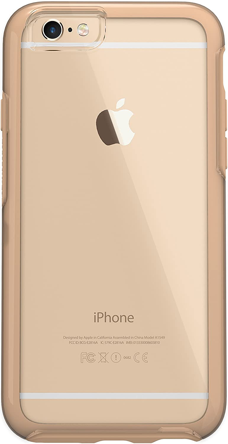 """NEW OtterBox SYMMETRY CLEAR SERIES Case for iPhone 6/6s (4.7"""" Version) - Retail Packaging - ROASTED CRYSTAL (CLEAR/ROASTED TAN)"""