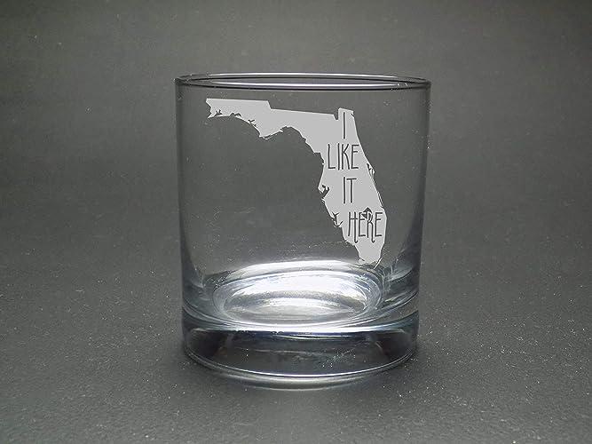 Amazoncom Florida I Like It Here Rocks Glass Home Rocks Glass