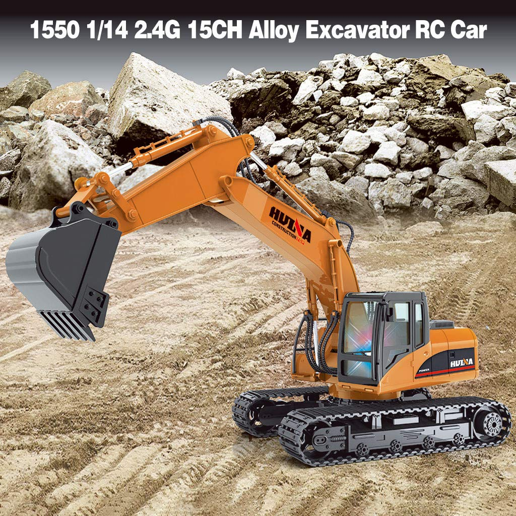 Kaniem 8 Kinds RC Toys for Kids,Remote Control Excavator Crane RC Toys Gifts for Boys Kids Car Lovers (Free,B)